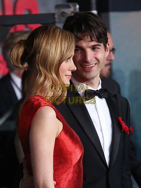 """HOLLYWOOD, CA - March 08: Alex Greenwald, Brie Larson, At Premiere Of Warner Bros. Pictures' """"Kong: Skull Island"""" At The Dolby Theatre In California on March 08, 2017.<br /> CAP/MPI/FS<br /> ©FS/MPI/Capital Pictures"""