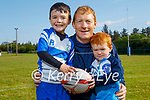 Brian, Owen and Ben O'Sullivan returning to rugby practice at the Tralee Rugby club on Saturday morning