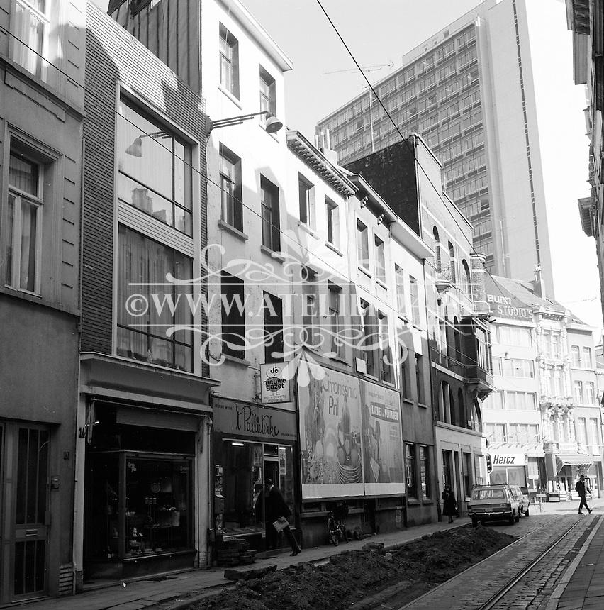 Oktober 1971. Lange Nieuwstraat in Antwerpen.