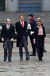 Military Christmas at Madrid Royal Palace. Alfredo Perez Rubalcaba, Jose Luis Rodriguez Zapatero and  Carme Chacon (Spain's president, vice president and Defense minister)..Photo: MAC / ALFAQUI
