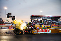 Sep 1, 2017; Clermont, IN, USA; NHRA top fuel driver Leah Pritchett during qualifying for the US Nationals at Lucas Oil Raceway. Mandatory Credit: Mark J. Rebilas-USA TODAY Sports