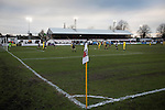 Chorley 2 Altrincham 0, 21/01/2017. Victory Park, National League North. First-half action at Victory Park, as Chorley played Altrincham (in yellow) in a Vanarama National League North fixture. Chorley were founded in 1883 and moved into their present ground in 1920. The match was won by the home team by 2-0, watched by an above-average attendance of 1127. Photo by Colin McPherson.