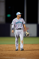 Daytona Tortugas third baseman Yonathan Mendoza (7) during a Florida State League game against the Tampa Tarpons on May 18, 2019 at George M. Steinbrenner Field in Tampa, Florida.  Daytona defeated Tampa 7-6.  (Mike Janes/Four Seam Images)