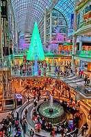 The Toronto Eaton Centre with it's Christmas shoppers.