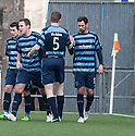 Forfar's Gavin Swankie (10) is congratulated by Forfar's Darren Dods (5) after he scores their first half goal.