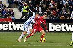 CD Leganes' Oscar Rodriguez and Getafe CF's Francisco Portillo during La Liga match between CD Leganes and Getafe CF at Butarque Stadium in Leganes, Spain. December 07, 2018. (ALTERPHOTOS/A. Perez Meca)