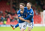 Aberdeen v St Johnstone…14.09.19   Pittodrie   SPFL<br />Michael O'Halloran celebrates his goal with Anthony Ralston<br />Picture by Graeme Hart.<br />Copyright Perthshire Picture Agency<br />Tel: 01738 623350  Mobile: 07990 594431
