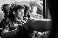 Esteban Chaves (COL/ORICA-Scott) relaxed in teh teambus<br /> <br /> 104th Tour de France 2017<br /> Stage 8 - Dole › Station des Rousses (187km)