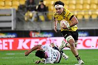 Du'Plessis Kirifii of the Hurricanes during the Super Rugby - Hurricanes v Rebels at Sky Stadium, Wellington, New Zealand on Friday 21 May 2021.<br /> Photo by Masanori Udagawa. <br /> www.photowellington.photoshelter.com