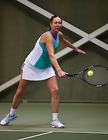 Hilversum, The Netherlands, 05.03.2014. NOVK ,National Indoor Veterans Championships of 2014, Carole de Bruin (NED)<br /> Photo:Tennisimages/Henk Koster