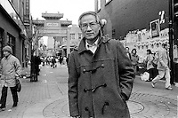 October 25 1987 File Photo - Montreal (Qc) Canada - EXCLUSIVE PHOTO  Kenneth Cheung in Montreal's Chinatown.<br /> <br /> Cheung was  one of the cityÕs first high-profile Asians to become involved in community affairs, and fought to keep  Chinatown a viable neighbourhood. He ran for city council as an independent in 1982, the first Canadian of Chinese origin to do so, and in 1986 he ran for mayor, not because he expected heÕd win, but to draw attention to the lack of visible minorities in public office.<br /> <br /> He served as an executive member of the Montreal Chinese Business and Professional PeopleÕs Association and the Quebec representative on the Chinese Canadian National Council.<br /> <br /> He died in the Royal Victoria Hospital on Sept. 1 following a stroke. He was 71.