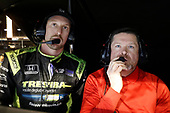2017 IndyCar Media Day - Track Action<br /> Phoenix Raceway, Arizona, USA<br /> Saturday 11 February 2017<br /> Charlie Kimball and engineer<br /> World Copyright: Michael L. Levitt/LAT Images<br /> ref: Digital Image _AT_3412