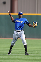 Omaha Storm Chasers outfielder Lorenzo Cain #18 during batting practice before a game against the Nashville Sounds at Greer Stadium on April 25, 2011 in Nashville, Tennessee.  Omaha defeated Nashville 2-1.  Photo By Mike Janes/Four Seam Images