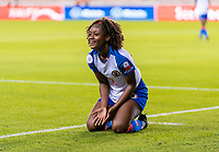 HOUSTON, TX - FEBRUARY 3: Dany Etienne #8 of Haiti complains to the referee during a game between Panama and Haiti at BBVA Stadium on February 3, 2020 in Houston, Texas.
