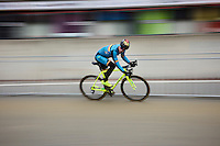 Sven Nys (BEL/Crelan-AAdrinks) checking his race line at training/recon<br /> <br /> UCI 2016 cyclocross World Championships