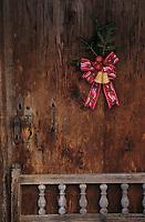 Europe/Autriche/Tyrol/Alpbach: Unterberg chalet décoration - Détail porte