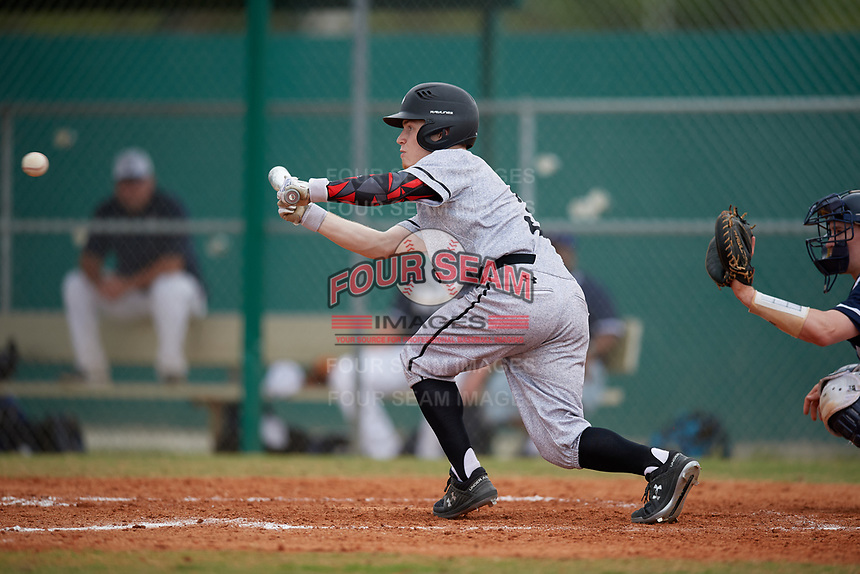 Edgewood Eagles right fielder Adam Cairo (3) during the second game of a double header against the Bethel Wildcats on March 15, 2019 at Terry Park in Fort Myers, Florida.  Bethel defeated Edgewood 3-2.  (Mike Janes/Four Seam Images)