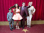 © Licensed to London News Pictures . 16/05/2015 .  The Palace Hotel , Manchester , UK . Eliot Carrington , Mimi Keene , Adam Woodyatt and Laurie Brett . The red carpet at the 2015 British Soap Awards , The Palace Hotel , Oxford Road , Manchester . Photo credit : Joel Goodman/LNP