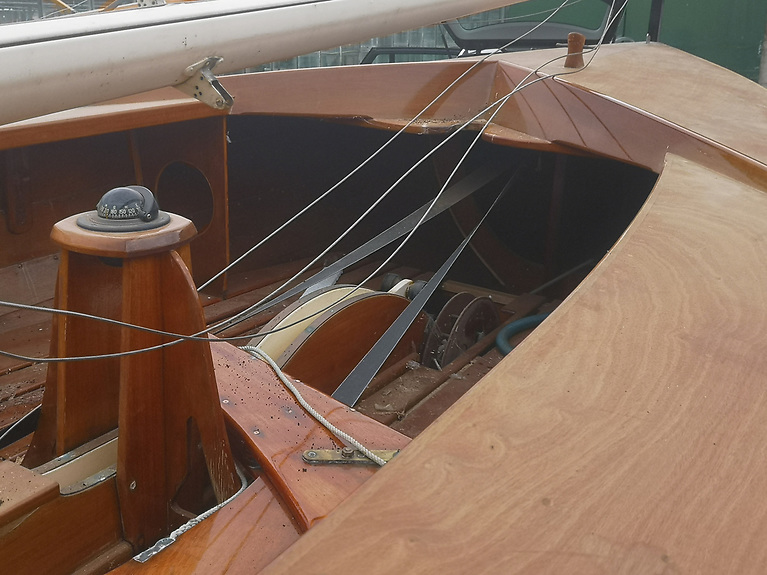 Upgrade project -  it is proposed to modernise the equipment to make the boat easier and safer to sail, fit a lighter centreboard, include a trapeze (which is used on more modern versions) and install additional built-in buoyancy