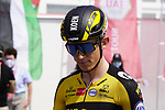 Koen Bouwman (NED) Jumbo-Visma at sign on before the start of Stage 6 of the 2021 UAE Tour running 165km from Deira Island to Palm Jumeirah, Dubai, UAE. 26th February 2021.  <br /> Picture: Eoin Clarke   Cyclefile<br /> <br /> All photos usage must carry mandatory copyright credit (© Cyclefile   Eoin Clarke)