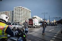 """Anlaesslich des ertsne Jahrestag der Coronamassnahmen der Bundesregierung protestierten etwas ueber 200 Menschen auf dem Berliner Alexanderplatz gegen die Politik der Bundesregierung. Sie forderten ein Ende der Maskenregelungen und Einschraenkungen in oeffentlichen Leben. Die Demonstranten riefen """"Liebe, Freiheit, Keine Diktatur"""" und """"Wahrheit macht Frei"""".<br /> Der Veranstalter, der Youtube-Schlagerstar Bjoern Winter alias Bjoern Banane (rechts im Bild), hatte 1000 Menschen zu der Kundgebung erwartet.<br /> 13.3.2021, Berlin<br /> Copyright: Christian-Ditsch.de"""