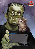 Fabrizio, Comics, CUTE ANIMALS, LUSTIGE TIERE, ANIMALITOS DIVERTIDOS,Frankenstein, paintings+++++,ITFZ58,#AC#, EVERYDAY ,humor