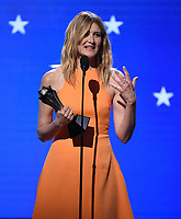 SANTA MONICA, CA - JANUARY 12: Laura Dern accepts the Best Supporting Actress award for 'Marriage Story' onstage at the 25th Annual Critics' Choice Awards at the Barker Hangar on January 12, 2020 in Santa Monica, California. (Photo by Frank Micelotta/PictureGroup)