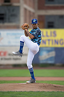 Ogden Raptors starting pitcher Jose Chacin (26) delivers a pitch during a Pioneer League game against the Billings Mustangs at Lindquist Field on August 17, 2018 in Ogden, Utah. The Billings Mustangs defeated the Ogden Raptors by a score of 6-3. (Zachary Lucy/Four Seam Images)