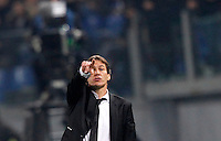 Calcio, Champions League: Gruppo E - Roma vs Bate Borisov. Roma, stadio Olimpico, 9 dicembre 2015.<br /> Roma's coach Rudi Garcia gestures to his players during the Champions League Group E football match between Roma and Bate Borisov at Rome's Olympic stadium, 9 December 2015.<br /> UPDATE IMAGES PRESS/Riccardo De Luca