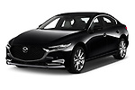 2020 Mazda Mazda3 Skycruise 4 Door Sedan Angular Front automotive stock photos of front three quarter view