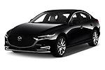 2020 Mazda Mazda3 Skycruise 4 Door Sedan Angular Front automotive stock photos of front three quarter view