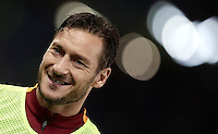 Calcio, Serie A: Roma vs Cagliari, Roma, stadio Olimpico, 22 gennaio 2017.<br /> Roma's Francesco Totti smile as he warms up during the Italian Serie A football match between Roma and Cagliari at Rome's Olympic stadium, 22 January 2017. <br /> UPDATE IMAGES PRESS/Isabella Bonotto