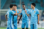 Jiangsu FC Midfielder Ramires Santos (C) and Jiangsu FC Defender Li Ang (R) talk with their teammates during the AFC Champions League 2017 Round of 16 match between Jiangsu FC (CHN) vs Shanghai SIPG FC (CHN) at the Nanjing Olympic Stadium on 31 May 2017 in Nanjing, China. Photo by Marcio Rodrigo Machado / Power Sport Images