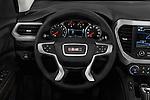 Car pictures of steering wheel view of a 2018 GMC Acadia SLT-1-FWD 5 Door SUV Steering Wheel