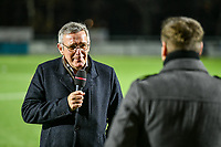 Head Coach Leo Van Der Elst of Club Brugge interviewed before a female soccer game between  Racing Genk Ladies and Club Brugge YLA on the 10 th matchday of the 2020 - 2021 season of Belgian Scooore Womens Super League , friday 18 th of December 2020  in Genk , Belgium . PHOTO SPORTPIX.BE | SPP | STIJN AUDOOREN