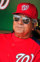9 July 2011: Washington Nationals Bench Coach Pat Corrales sits in the dugout prior to a game against the Colorado Rockies at Nationals Park in Washington, District of Columbia. The Nationals were edged out 2-1 by the Rockies, dropping the second game of their 3-game series. Mandatory Credit: Ed Wolfstein Photo