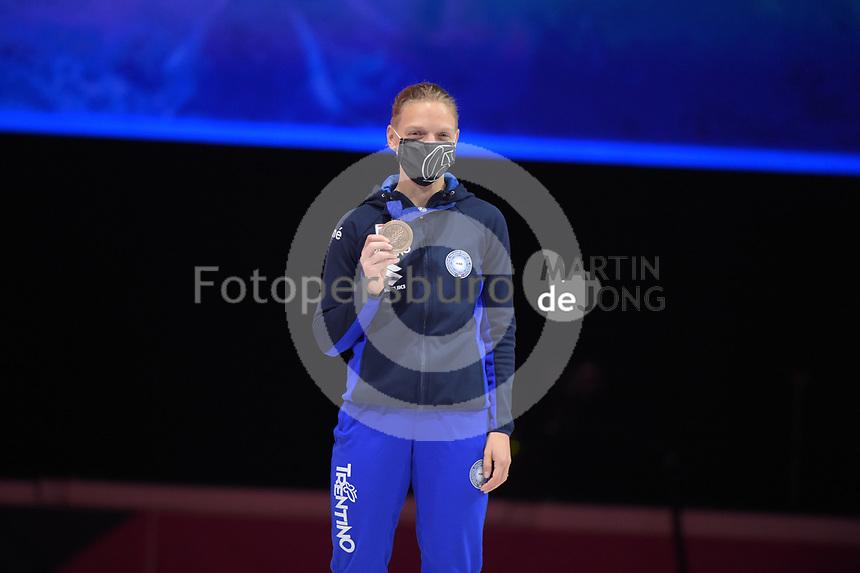 SPEEDSKATING: DORDRECHT: 06-03-2021, ISU World Short Track Speedskating Championships, Podium 500m Ladies, Arianna Fontana (ITA), ©photo Martin de Jong