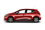 Car Driver side profile view of a 2017 Renault Clio Intens 5 Door Hatchback Side View