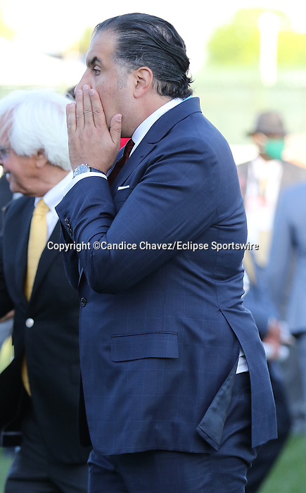 May 01,, 2021:  Medina Spirit owner, Amr F. Zedan still surprised by his horses win the 147th Kentucky Derby as they await his arrival in the winner's circle at Churchill Downs.  Louisville, KY on May 01, 2021.  Candice Chavez/ESW/CSM
