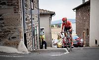 Michael Schär (SUI/CCC) is the last survivor of the early breakaway<br /> <br /> Stage 1: Clermont-Ferrand to Saint-Christo-en-Jarez (218km)<br /> 72st Critérium du Dauphiné 2020 (2.UWT)<br /> <br /> ©kramon