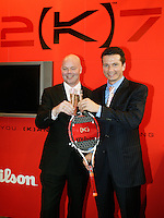 22-2-07,Tennis,Netherlands,Rotterdam,ABNAMROWTT, Richard Krajicek receives his first personalised racket from Wilson