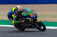 27th August 2021; Silverstone Circuit, Silverstone, Northamptonshire, England; MotoGP British Grand Prix, Practice Day; Avintia Esponsorama Moto3 rider Niccolo Antonelli on his KTM RC250GP in the Moto3 category