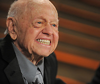WEST HOLLYWOOD, CA - MARCH 02: Mickey Rooney attends the 2014 Vanity Fair Oscar Party hosted by Graydon Carter on March 2, 2014 in West Hollywood, California.<br /> <br /> People:  Mickey Rooney