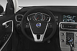 Car pictures of steering wheel view of a 2015 Volvo V60 T5 Cross Country AWD 4 Door Wagon Steering Wheel