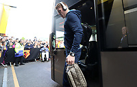Alfie Mawson of Swansea City arrives at Vicarage Road Stadium prior to kick off of the Premier League match between Watford and Swansea City at Vicarage Road Stadium, Watford, England, UK. Saturday 15 April 2017
