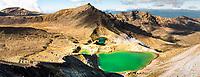 Emerald Lakes on Tongariro Alpine Crossing Track Tongariro National Park, Central Plateau, North Island, UNESCO World Heritage Area, New Zealand, NZ