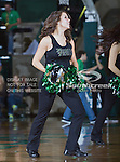 The North Texas Mean Green dance team in action during the game between the Troy Trojans and the University of North Texas Mean Green at the North Texas Coliseum,the Super Pit, in Denton, Texas. UNT defeats Troy 87 to 65...