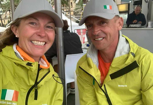 Susan Glenny and Conor Fogerty raced at the Eurosaf Mixed Offshore event in Italy in 2020