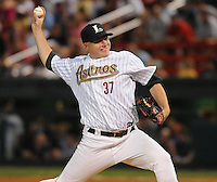 Pitcher Kirk Clark (37) of the Lexington Legends at the 2010 South Atlantic League All-Star Game on Tuesday, June 22, 2010, at Fluor Field at the West End in Greenville, S.C. Photo by: Tom Priddy/Four Seam Images