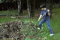 HS03-083x  Boy turning compost pile